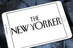 The New Yorker magazine logo. Logo of The New Yorker magazine on samsung tablet.The New Yorker is an American magazine of reportage, commentary, criticism Stock Photography
