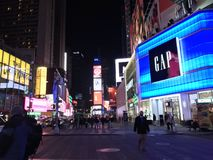 New Yorker Times Square royalty free stock image