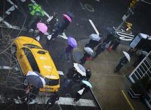 Rainy Intersection Stock Photography