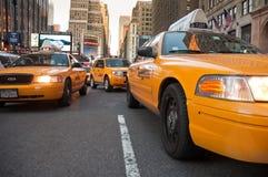 New- Yorkfahrerhäuser Stockfoto
