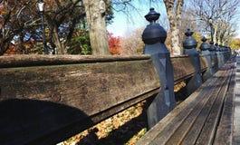 New- Yorkgarten-Bank Stockfotografie