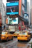 New- Yorkgelb-Fahrerhäuser Lizenzfreie Stockbilder