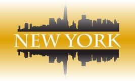 New- Yorkgold Lizenzfreie Stockbilder
