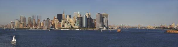 New- Yorkhafen-Panorama Stockfotos