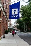 New- Yorkhochschulgebäude in Washington Square stockfotografie