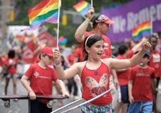 New- Yorkhomosexueller Stolz März 2010 Stockfoto