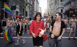 New- Yorkhomosexueller Stolz März 2010 Stockfotos