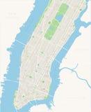 New- Yorkkarten-- unteres und mittleres Manhattan Stockfoto