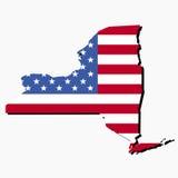 New- Yorkkartenmarkierungsfahne Lizenzfreies Stockfoto