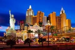 New- Yorkkasino in Las Vegas lizenzfreie stockbilder