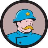 New- Yorkpolizist-Weinlese-Kreis-Karikatur Lizenzfreies Stockfoto