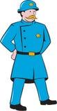 New- Yorkpolizist-Weinlese-stehende Karikatur Lizenzfreie Stockbilder