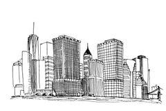 New- YorkSkyline stock abbildung
