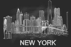 New- YorkSkyline lizenzfreie abbildung