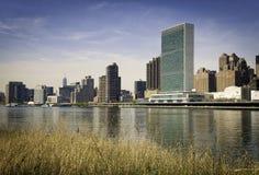 New- Yorkskyline, Ansicht der Vereinten Nationen Lizenzfreie Stockbilder