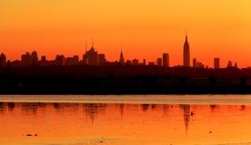 New- Yorkskyline bei Sonnenaufgang 4 Lizenzfreie Stockfotografie