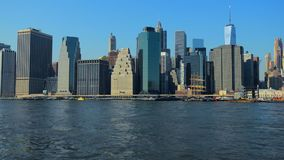 New- Yorkskyline Manhattan NYC Vereinigte Staaten stock footage