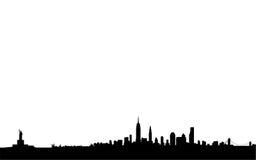 New- YorkSkyline und Grenzsteine Stockfotos