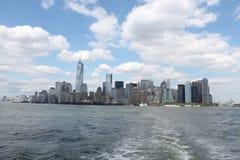 New- Yorkskyline von einem Boot Stockfotografie