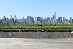 New- Yorkskyline von getroffen Stockfoto
