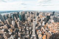 New- Yorkskylinevogelperspektive Stockfoto