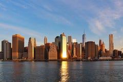 New- Yorksonnenaufgang Lizenzfreie Stockbilder