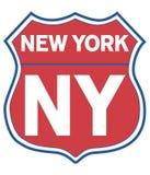 New- Yorkstraßen-Schild Stockfotos