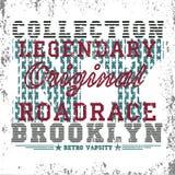 New- Yorktypographie, T-Shirt Brooklyn, Designgraphik Lizenzfreies Stockbild