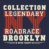 New- Yorktypographie, T-Shirt Brooklyn, Designgraphik Stockfotos