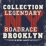 New- Yorktypographie, T-Shirt Brooklyn, Designgraphik Lizenzfreie Stockfotografie
