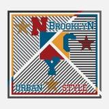 New- Yorktypographie, T-Shirt Druckmann NYC, ursprüngliches Design c Lizenzfreie Stockfotografie