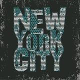 New- Yorktypographie, T-Shirt NY, Designgraphik Lizenzfreie Stockfotografie