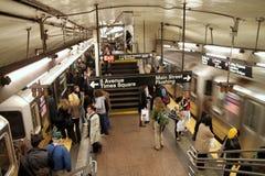 New- YorkU-Bahnstation Stockbild