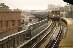 New- Yorkuntergrundbahn Stockbild