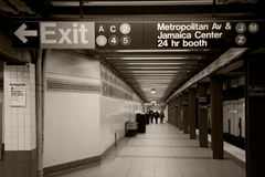 New- Yorkuntergrundbahn Stockfoto