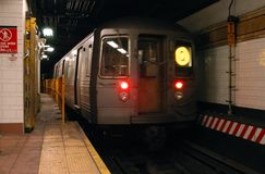 New- Yorkuntergrundbahn Stockfotografie