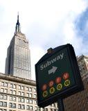 New- Yorkuntergrundbahnzeichen Lizenzfreies Stockbild