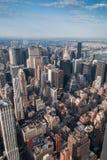 New- Yorkwolkenkratzer von der Luft lizenzfreie stockfotos