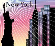 New- Yorkwolkenkratzervektorhintergrund Lizenzfreie Stockbilder