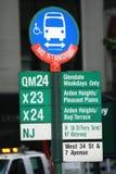 New- Yorkzeichen Stockbild