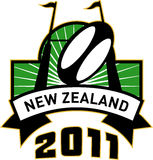 New zealand 2011 rugby goal post Stock Image