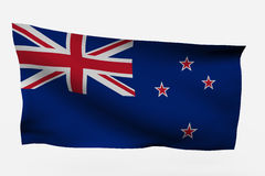 New Zealand 3d flag. Isolated on white background Royalty Free Stock Image