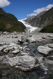 New Zealand. Franz Josef Glacier in Westland National Park on the West Coast of New Zealand's South Island. Southern Alps mountains Royalty Free Stock Photos