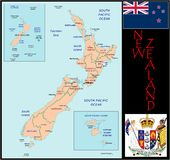 New Zealand Administrative divisions Royalty Free Stock Images