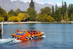 New Zealand, Adventure, Jet Boat Ride Royalty Free Stock Images