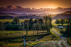 New Zealand Alps. Panorama of beautiful Alps in New Zealand South Island Royalty Free Stock Photo