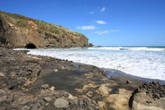 New Zealand beach stock photo