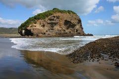 New Zealand black beach Stock Photo