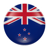 New Zealand button on white background. 3d rendering of a New Zealand flag on a button Royalty Free Stock Images
