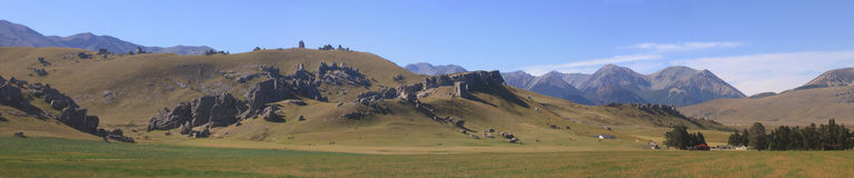 New zealand castle rock. On the road to arthur's pass stock photography